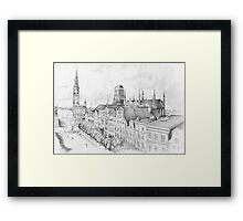 Gdansk panorama Framed Print