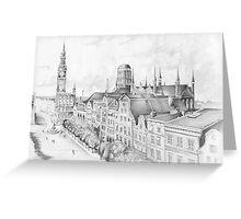 Gdansk panorama Greeting Card