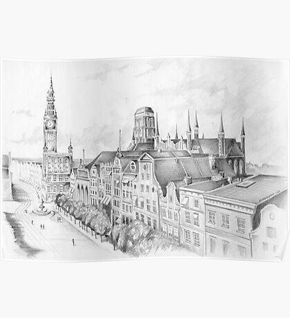 Gdansk panorama Poster
