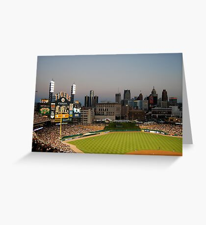 Comerica Park / The New Tiger's Stadium / Baseball in Detroit Greeting Card