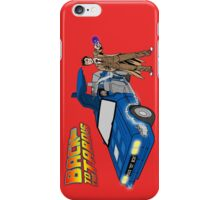Back to the Future on Tardis with Doctor Who  iPhone Case/Skin