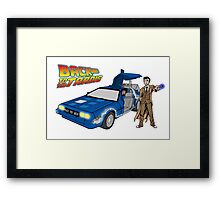 Back to the Future on Tardis with Doctor Who  Framed Print