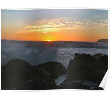 Coronado Island Sunset with 14 foot waves Poster