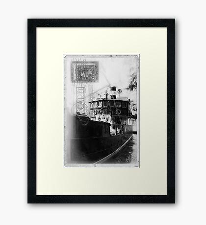 Vintage Card Framed Print
