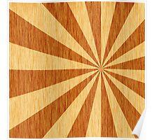woodgrain starburst Poster