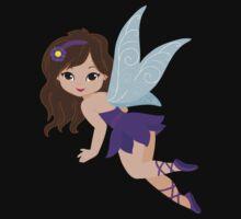 Beautiful Fairy  in a violet dress Kids Tee