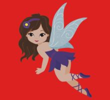 Beautiful Fairy  in a violet dress One Piece - Short Sleeve