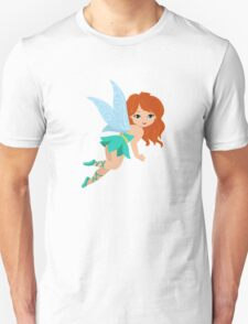 Red-haired fairy in a turquoise dress T-Shirt