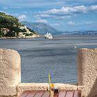 ..a drink with a view...in Dubrovnik... by John44