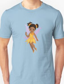 African American Beautiful  Fairy in a yellow dress T-Shirt