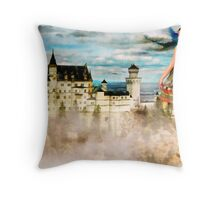 Stepping in a Fairy Tale Throw Pillow