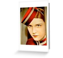 Vintage Dolly Theatre Gal Greeting Card