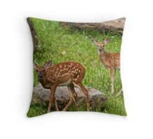 Two Fawns Throw Pillow