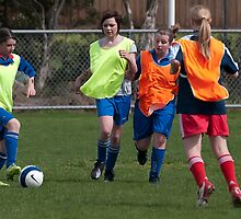 Women & soccer in Frankston by Gerard Rotse