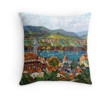 Durnstein, Austrian Landscape Throw Pillow