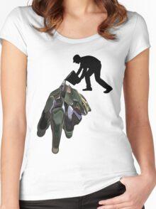 Damn Spilt It Women's Fitted Scoop T-Shirt