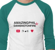 Amazingphil & Danisnotonfire Men's Baseball ¾ T-Shirt