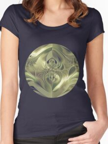 Metallic Leaves Women's Fitted Scoop T-Shirt