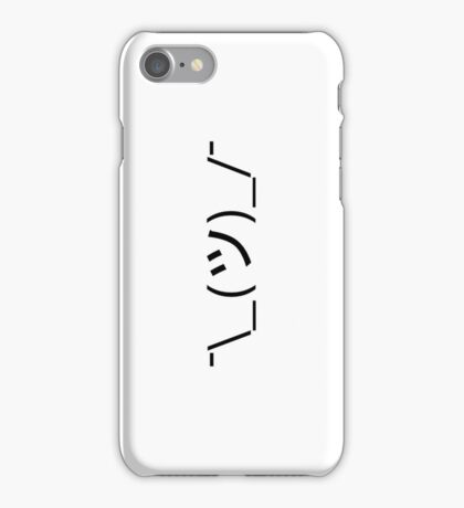 Shrug Emoticon ¯\_(ツ)_/¯ Japanese Kaomoji iPhone Case/Skin