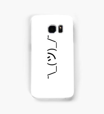 Shrug Emoticon ¯\_(ツ)_/¯ Japanese Kaomoji Samsung Galaxy Case/Skin