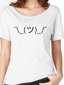 Shrug Emoticon ¯\_(ツ)_/¯ Japanese Kaomoji Women's Relaxed Fit T-Shirt