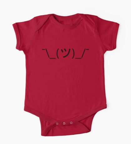 Shrug Emoticon ¯\_(ツ)_/¯ Japanese Kaomoji One Piece - Short Sleeve