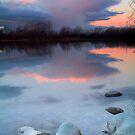 Rainshower behind Lake Poaka by Paul Mercer