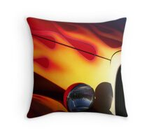 Flames In The Sunset Throw Pillow