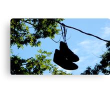 Sneakers On A Wire Canvas Print