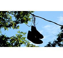 Sneakers On A Wire Photographic Print