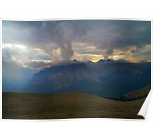 Afternoon Storm on Trail Ridge Road Poster
