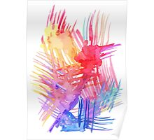 Watercolor abstract palm leaves Poster