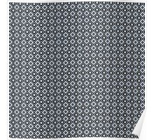 Abstract retro geometric black pattern seamless. Poster