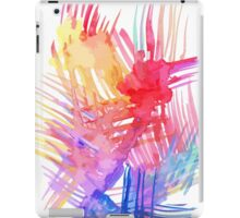 Watercolor abstract palm leaves iPad Case/Skin