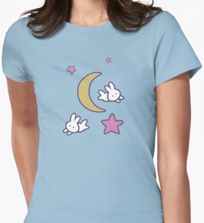 Sailor Moon inspired Bunny of the Moon Bedspread Blanket Print Womens Fitted T-Shirt
