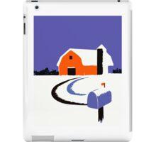 Winter Farm Scene Poster Graphic iPad Case/Skin
