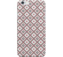 Abstract retro geometric gray - pink pattern seamless iPhone Case/Skin