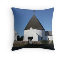 Ny Church, Nyker, Bornhol, Denmark Throw Pillow