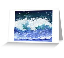 Where the seagulls fly Greeting Card