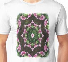 Rosas Moradas 2 Kaleidoscope 10 Unisex T-Shirt