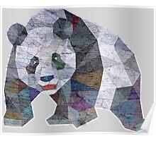 Panda Triangle Low Polygon Poster