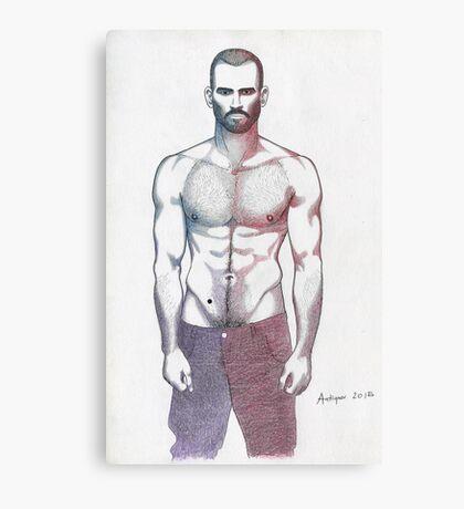 Lean man Canvas Print