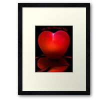 For My Beautiful Wife - Red Framed Print