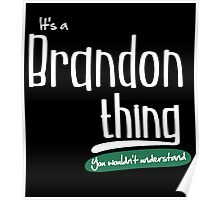 """""""It's a Brandon Thing, You Wouldn't Understand""""# 960004 Poster"""