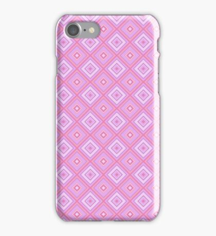 Abstract retro geometric  pink pattern seamless iPhone Case/Skin