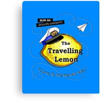 The Travelling Lemon Canvas Print