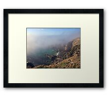 Foggy Cliffs - Alderney Framed Print