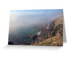 Foggy Cliffs - Alderney Greeting Card