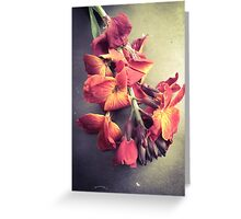 Wallflower/Autumnal Greeting Card