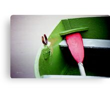 The Red Oar Canvas Print